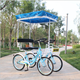china wholesale high quality 2 seat tandem bicycle/four wheel sightseeing surrey bike pedal quadricycle