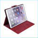 2018 Leather Stand Folio Wallet Case Cover For iPad Pro 12.9 With Multiple Viewing Angles Auto Sleep / Wake Document Card Pocket