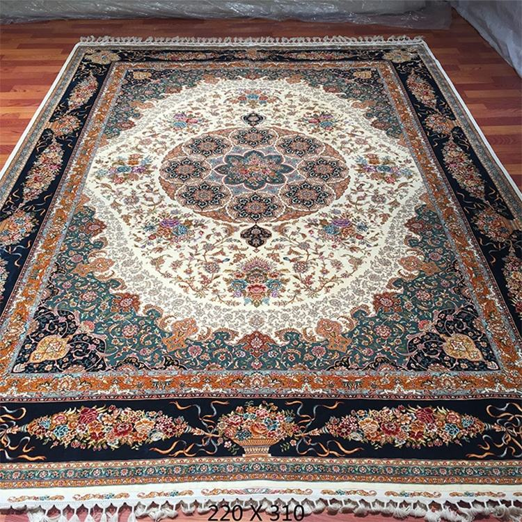 Elegant Red Color Silk Rug Persian Style 100% Silk Oriental Handknotted Floor Rug