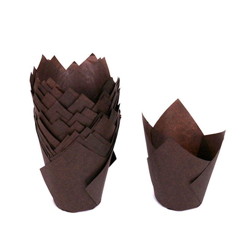 wholesale dessert brown cakecup liner tulip muffin liner wrapper baking cup holders greaseproof paper decorate cake tool