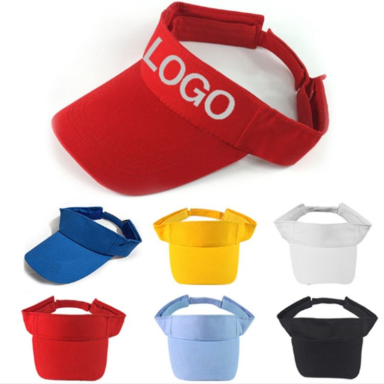 Custom logo wholesale sports custom cap golf running women sun hat visor
