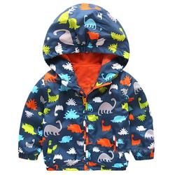Wholesale Autumn baby boy Hoodies Cartoon dinosaur printing baby boy waterproof jackets