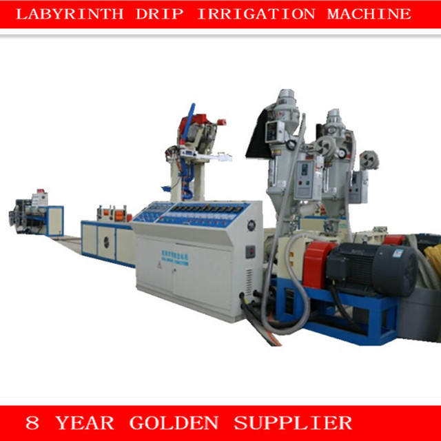Double-layer Labyrinth Drip Irrigation Tape Production Line / water irrigation pipe making machine