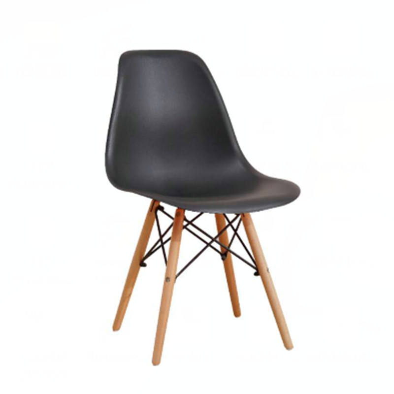Manufacturer Price chairs French dining chair plastic Cafe Chair with wooden legs