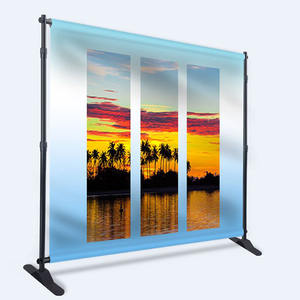 Custom Print portable adjustable telescopic single or double side jumbo retractable backdrop stand banner display