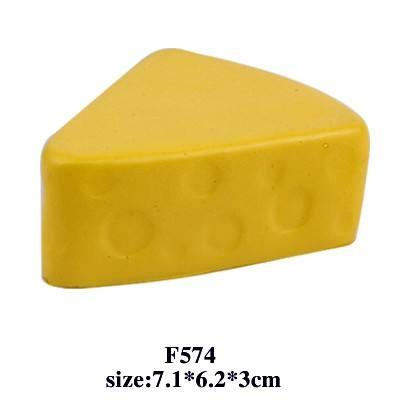 alimentaires en forme de fromage ball stress pu jouets logo accepter <span class=keywords><strong>personnalisés</strong></span> pour les cadeaux promotionnels
