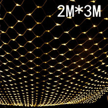 3M X 2M 192 LED Fairy Lights Fishing Net Mesh String Xmas Party Wedding Christmas Lights Outdoor Decoration Holiday Lighting