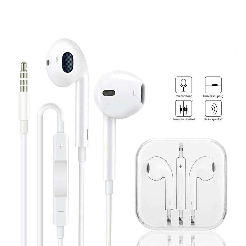 Cheap earphone For iphone Earphones 3.5mm Headphones With Mic for AUX
