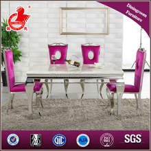 A8028 Wholesale white marble 8 seater dining table and chair