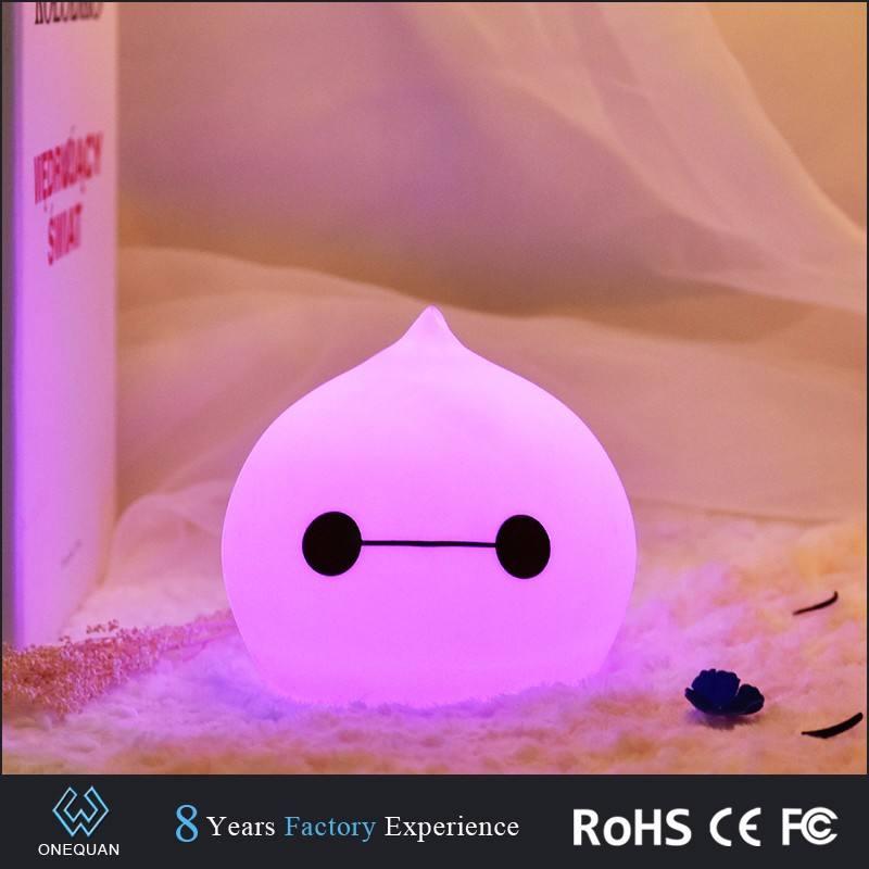 Produkte wunderbare Silikon wechselnden Farben Mini LED Schlafzimmer Nacht Licht für die Dekoration