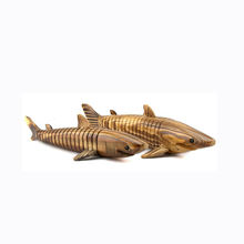 high quality cheap craft shark hand carved wooden animal