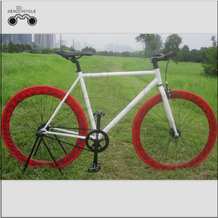 700C colorful rims white frames fixie bike