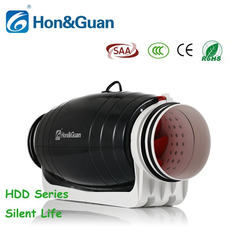 Hot sale 6 inch quiet humidity controlled inline duct booster fan