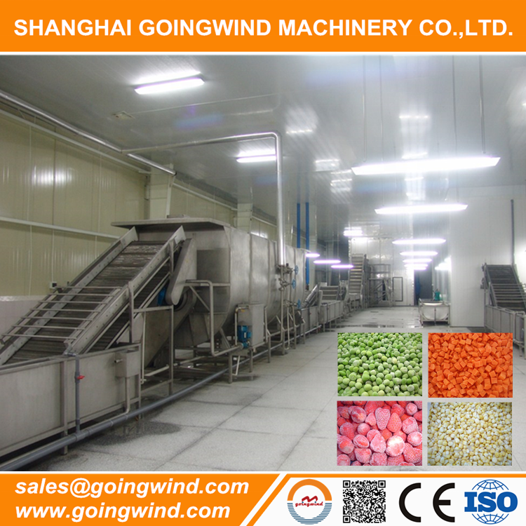 Automatic frozen fruit and vegetable production line auto frozen fruits vegetables processing machinery cheap price for sale