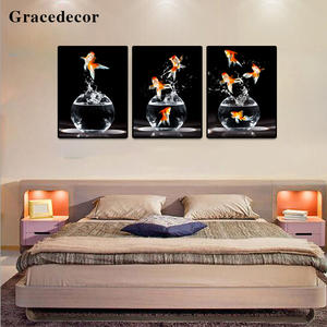 Room Decoration Picture Wall Mural Goldfish Art Painting