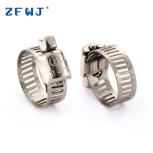 8-12 Mm Tipe Amerika Klem Selang Stainless Steel Band Clamp