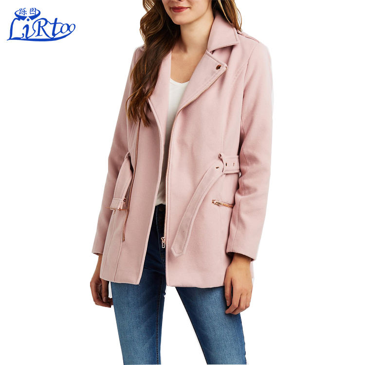 High fashion womens winter coats taiwan wholesale pink clothing suppliers