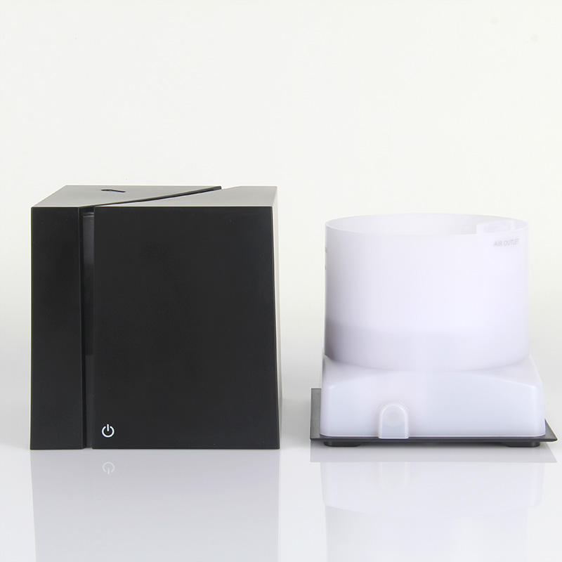 One-Stop Service [ Electric Air Humidifier ] Electric Manufacturer Humidifier JX Hot Sale Portable Electric 200ml Marble Grain Cube Aroma Diffuser Ultrasonic Air Humidifier