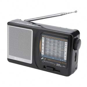 Best Reception Portable Transistor Radio SW AM FM Muti Band with Earphone Jack for Walking, Camping