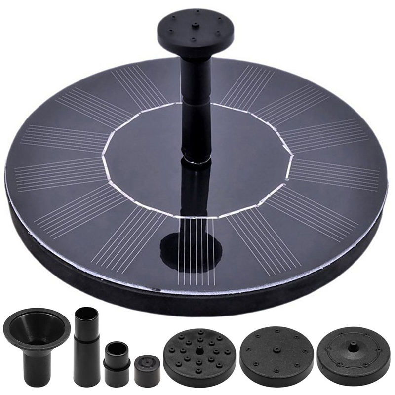Birdbath Solar Powered Pump Pool Water Fountain