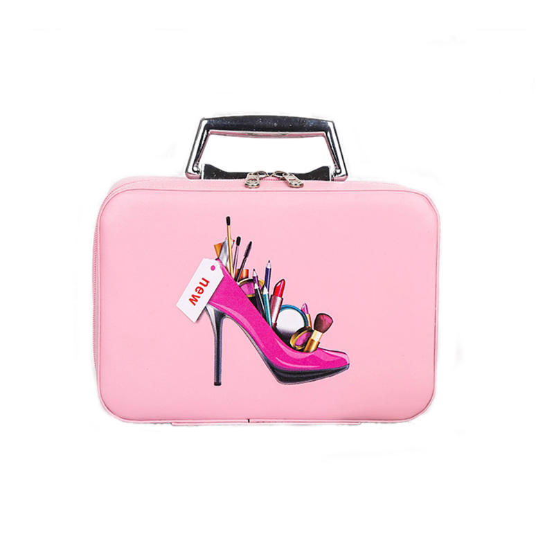 High Quality Travel Portable Makeup Bag Stylish PU Cosmetic Case