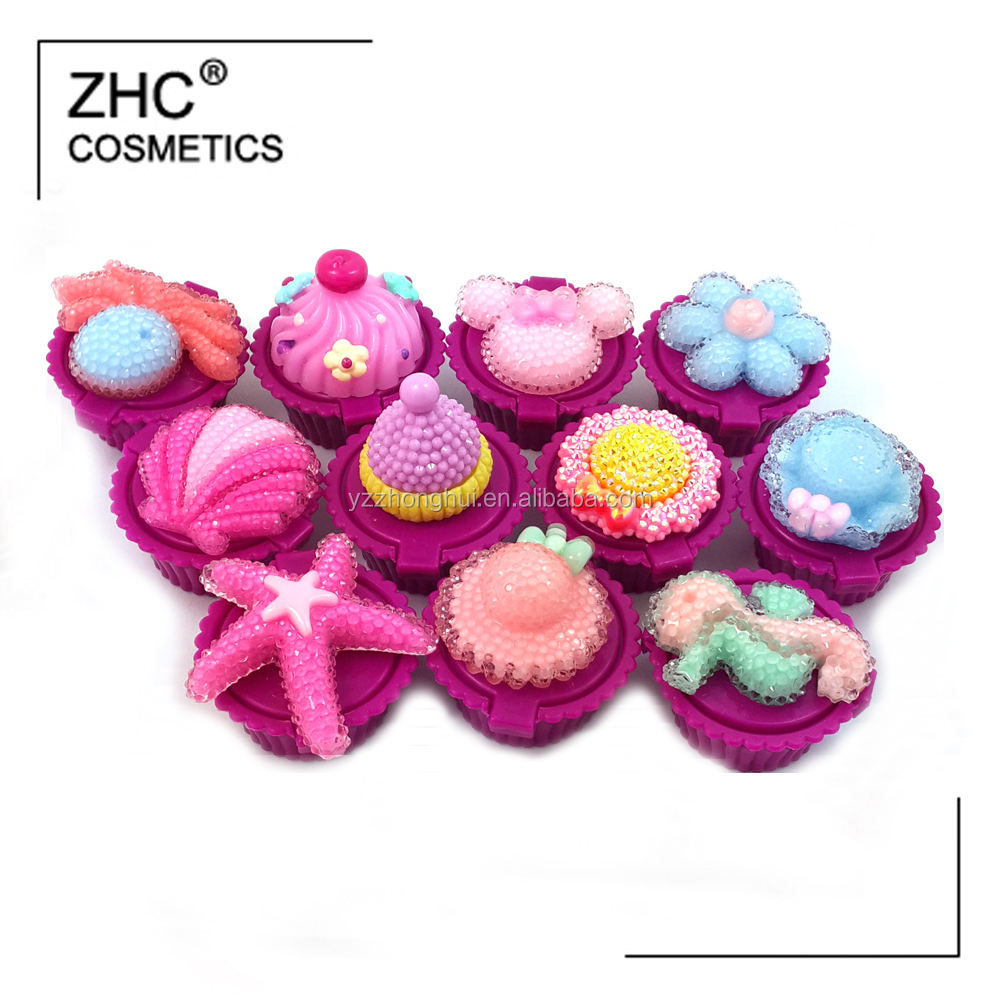 CC36066 New Arrival OEM/ODM Cupcake Shaped Lip Balm
