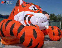 Giant Inflatable Mascot Tiger for Outdoor Decoration