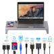 New Product 12 in 1 Usb Type C Hub Universal Laptop Stand Wireless Charger Adapter