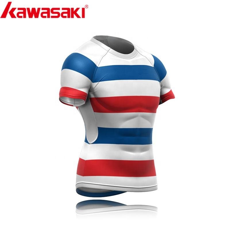 100% polyester 승화 printing womens 빈 키 빈 striped custom rugby jersey