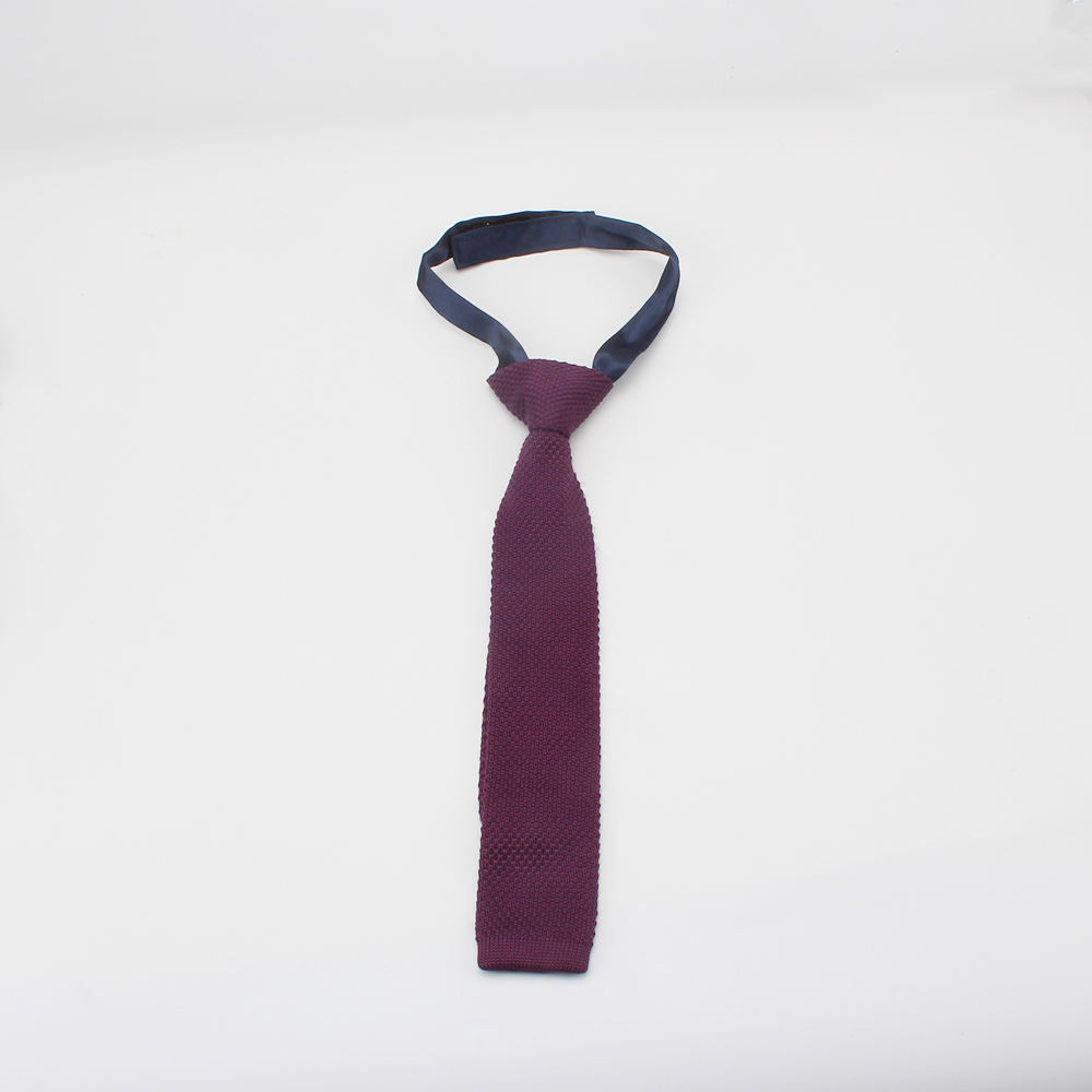 Novelty 100% Polyester Hand Made Boy Knit Tie And Bow Tie