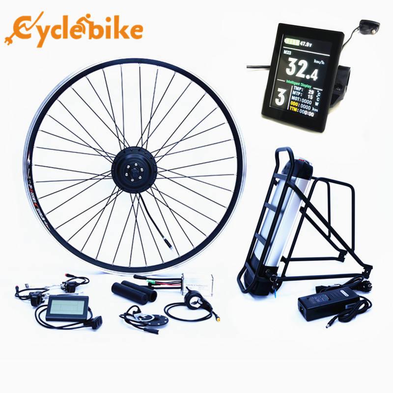 "700C Electric Bike//eBike Conversion Kit Front Hub Motor 16/""//20/""//24/""//26/""//28/"" Rim"