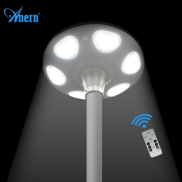Outdoor wifi 3m solar lamp post for stone garden