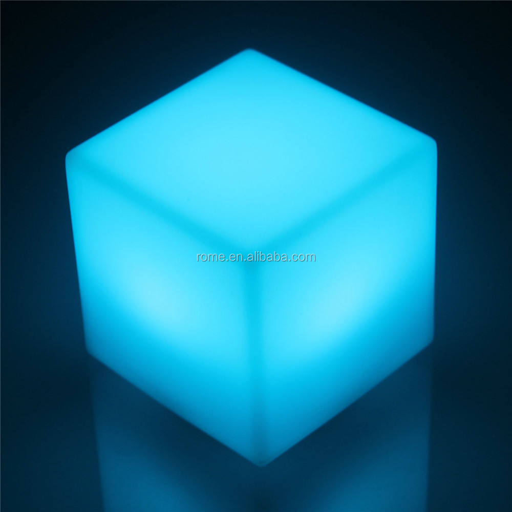 Color Change LED Glowing Cube light table top light