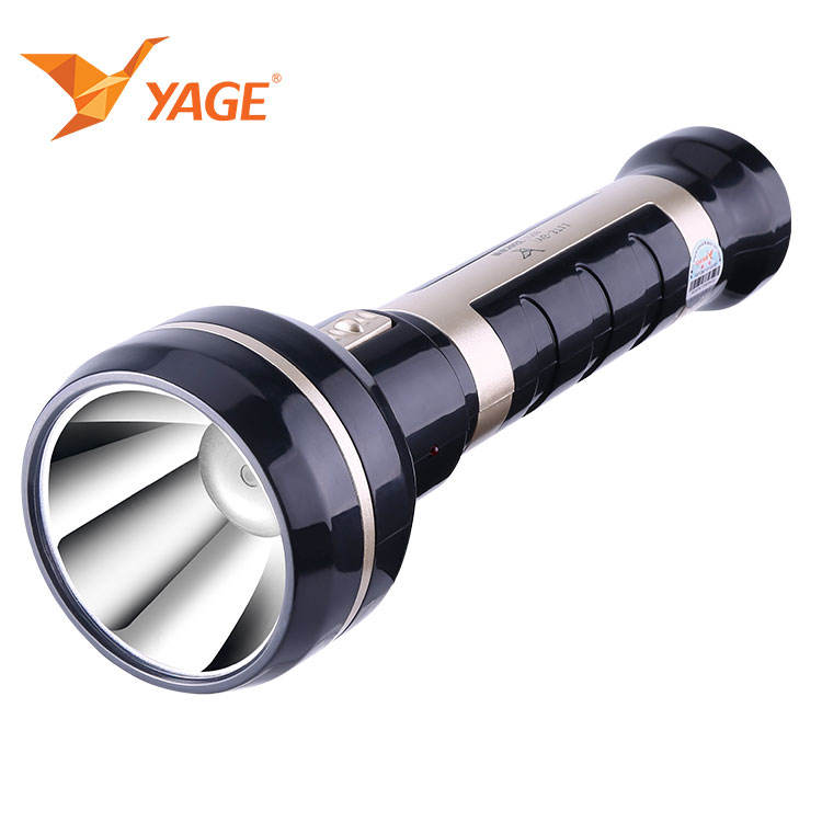 YAGE 2019 Long handle LED rechargeable flashlight 3W LED torch recharge light built-in 1750mAh battery