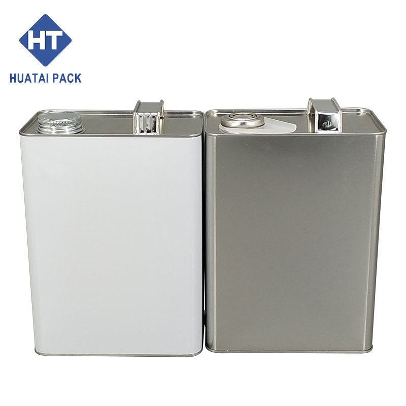 4L square motor oil drum with metal lid engine oil can manufacturer
