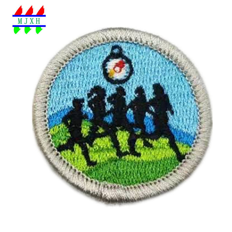 embroidery crafts jackets embroidery designs running race patch supplier