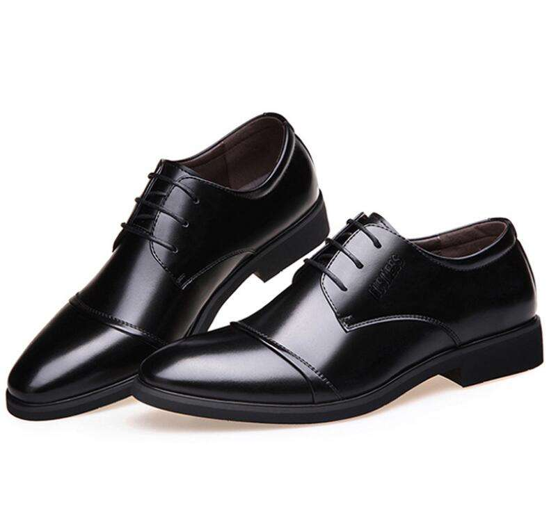UP-0024D Spring autumn men leather pointed toe dress wedding shoes
