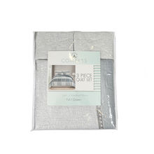 Reversible  Washing Ultrasonic embossing  3pcs printed quilt set with 80% cotton and 20%  polyester