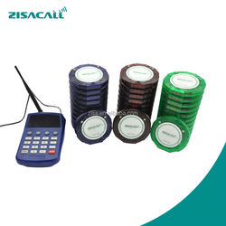 ZisaCall Pager, Restaurant Wireless Guest Coaster Pager Paging System, Cafe/coffee Paging System
