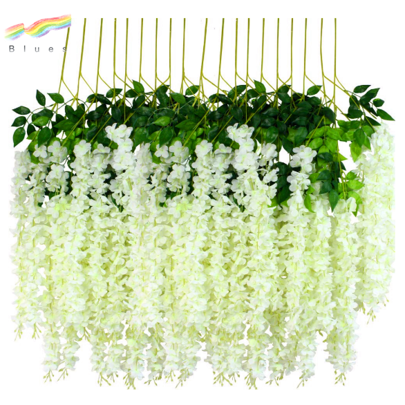 Wholesale wisteria artificial hanging flower wedding silk flowers decoration