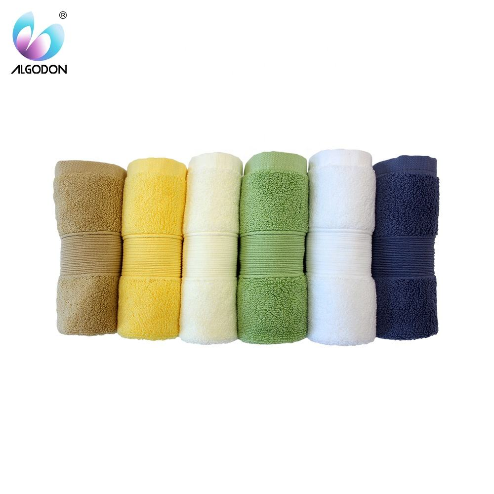 Low cost 100% cotton towel hotel / bleach cotton bath towel / blue cotton bath towel