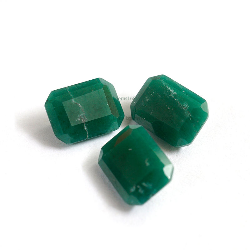 ZHAO HUA GEMS Malachite Green NanoSital Emerald Cut NON TRANSPARENT Loose Gemstone wholesale High quality supplier