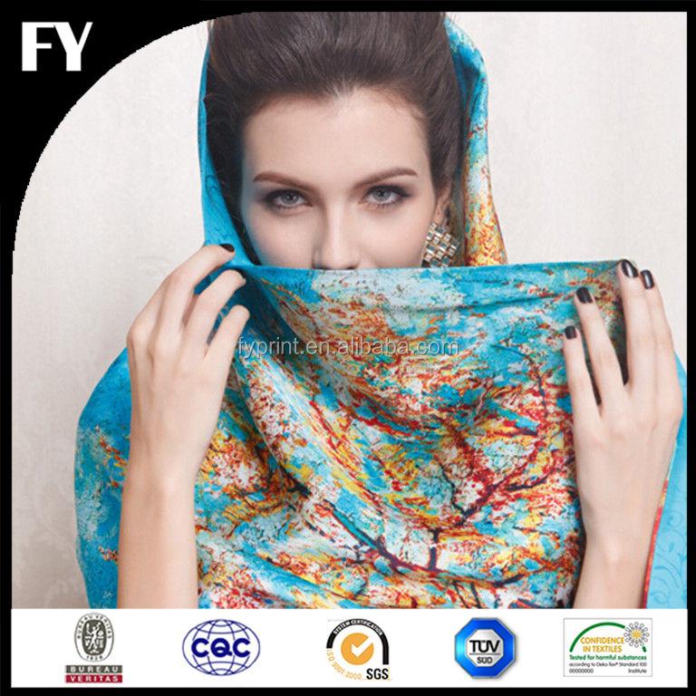 Usine personnalisé hijab foulards avec vos propres créations