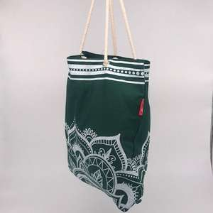 Factory Custom Cheap Green Color Canvas Cotton Shopping Bags Tote Bag