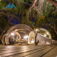 Luxury Transparent Inflatable Bubble Camping Tent with 3 Rooms Clear Bubble Lodge