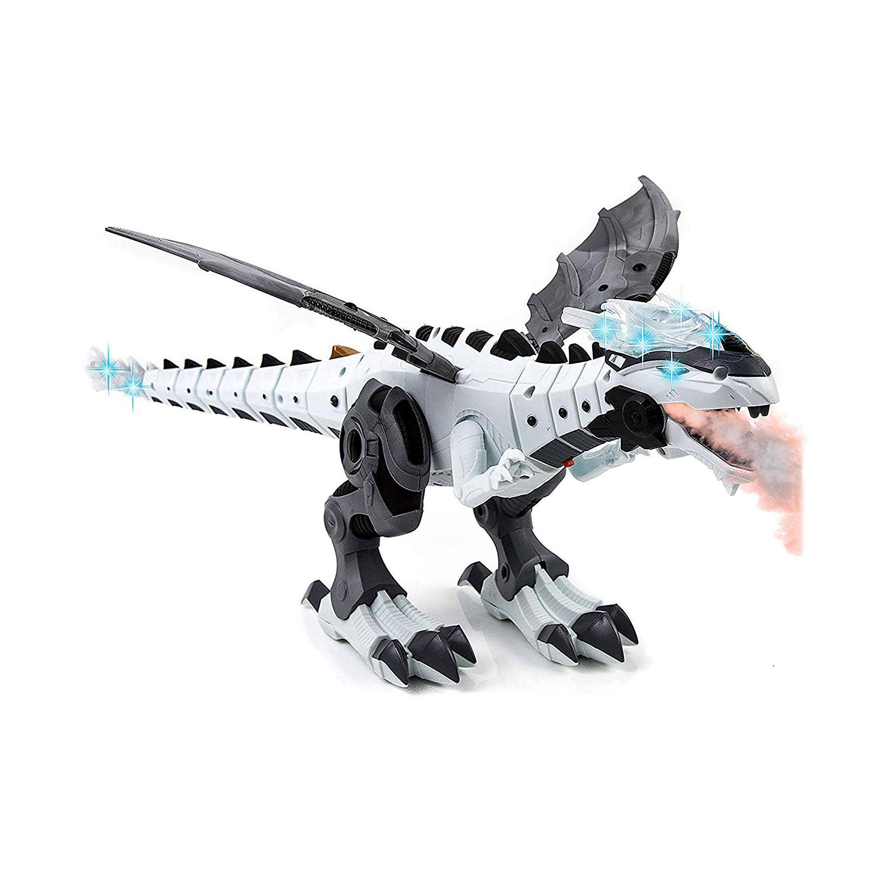 Mist Spray Dinosaur Robot Toy for Kids - Walking Dinosaur Fire Breathing Water Spray Mist with Red Light & Realistic Sounds