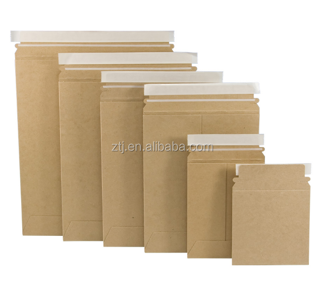 Kraft paper mailers brown stay flat seal self envelope