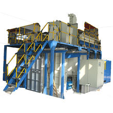 Double-chamber horizontal Gas Quenching vacuum furnace with high Pressure and high Flow Rate