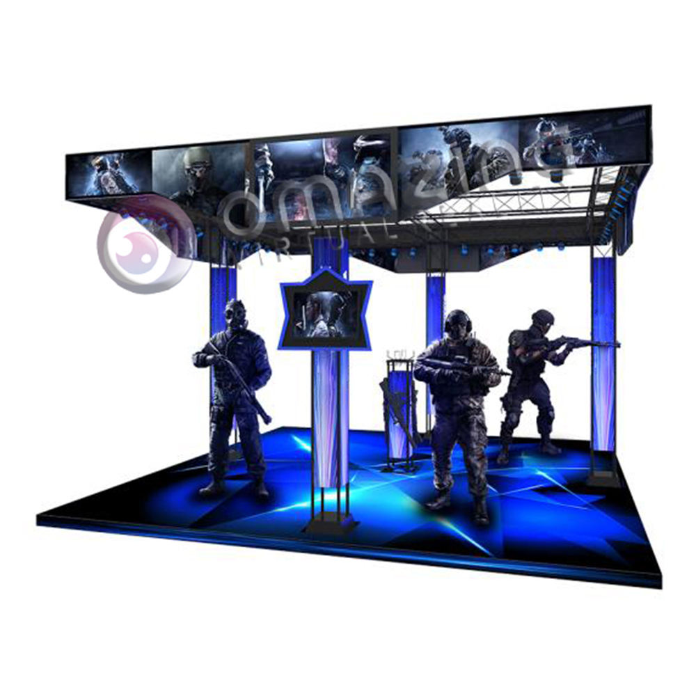 2019 New Arrival VR Shooting Simulator Multi-play Simulator Machine 9D VR Zombie Games Devices With Vibration