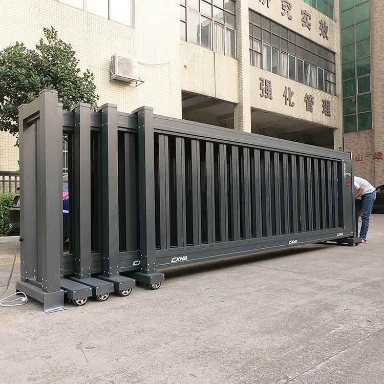 Latest Design Boundary Wall Luxury Electric Automatic Telescopic Sliding Gate